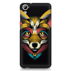 Fox sketch design HTC Desire 626 printed back cover