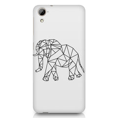 Geometrical elephant design HTC Desire 626 printed back cover