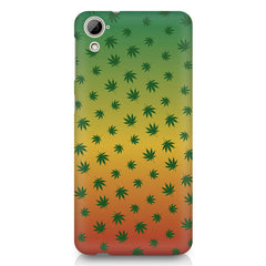 Marihuana pattern design HTC Desire 820 printed back cover