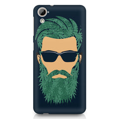 Beard guy with goggle sketch design HTC Desire 820 printed back cover