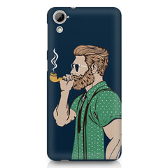 Pipe smoking beard guy design HTC Desire 626 printed back cover