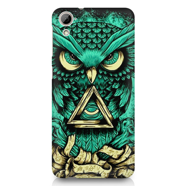 Owl Art design,  HTC 826 (Dual Sim) printed back cover