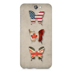 Butterfly in country flag colors HTC One A9  printed back cover