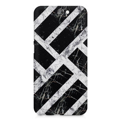 Black & white rectangular bars  HTC One A9  printed back cover