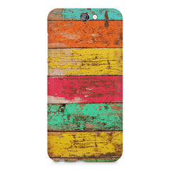 Strips of old painted woods  HTC One A9  printed back cover