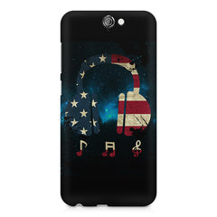 America tunes Blue sprayed  HTC One A9  printed back cover