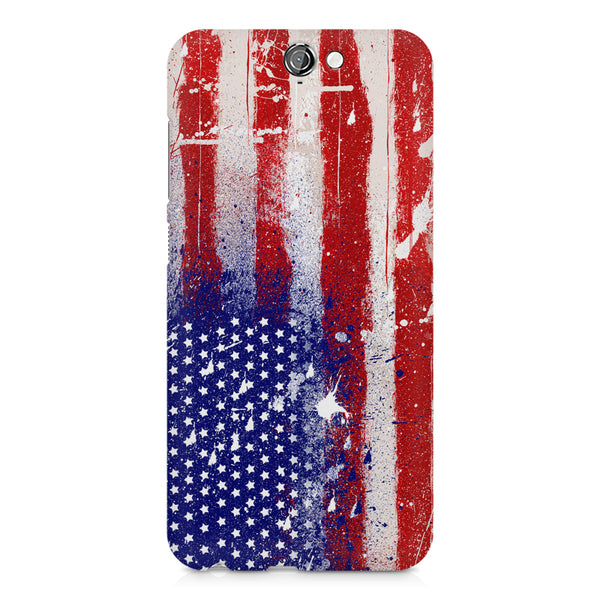 American flag design    HTC One A9 hard plastic printed back cover