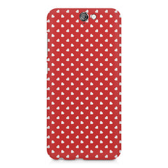 Cute hearts all over the cover design    HTC One A9 hard plastic printed back cover