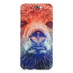 Zoomed Bear Design  HTC One A9 hard plastic printed back cover