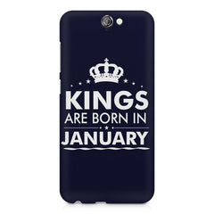 Kings are born in January design    HTC One A9 hard plastic printed back cover