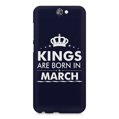 Kings are born in March design    HTC One A9 hard plastic printed back cover
