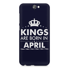 Kings are born in April design    HTC One A9 hard plastic printed back cover