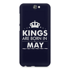 Kings are born in May design    HTC One A9 hard plastic printed back cover