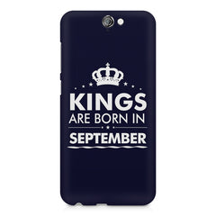 Kings are born in September design    HTC One A9 hard plastic printed back cover