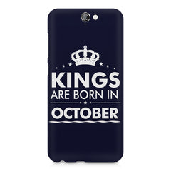 Kings are born in October design    HTC One A9 hard plastic printed back cover