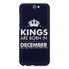 Kings are born in December design    HTC One A9 hard plastic printed back cover