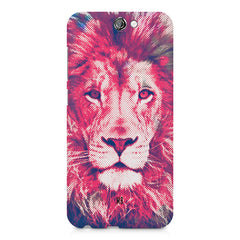 Zoomed pixel look of Lion design HTC One A9 hard plastic printed back cover
