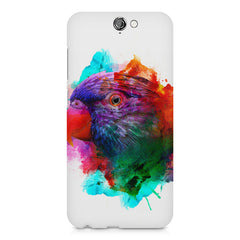 Colourful parrot design HTC One A9 hard plastic printed back cover