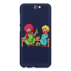 Punjabi sardars with chicken and beer avatar HTC One A9 hard plastic printed back cover