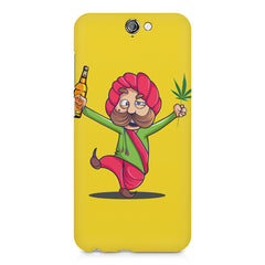 Sardar dancing with Beer and Marijuana  HTC One A9 hard plastic printed back cover