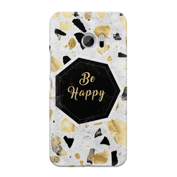 Be Happy Simple Text Quotes HTC M10 printed back cover