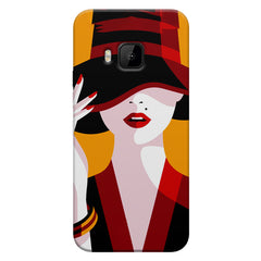 Classy girl  design,  HTC one M9  printed back cover