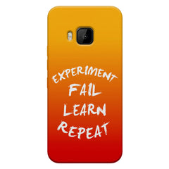 Experiment Fail Learn Repeat - Entrepreneur Quotes design,  HTC one M9  printed back cover