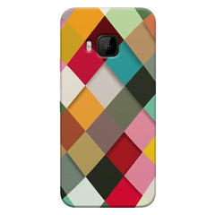 Graphic Design diamonds   HTC one M9  printed back cover