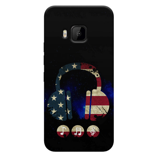 America tunes Blue sprayed  HTC one M9  printed back cover
