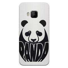 White Panda  design,  HTC one M9  printed back cover