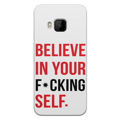 Believe in your Self HTC one M9  printed back cover