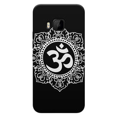 Ethnic Pattern with OM inscribed HTC one M9 hard plastic printed back cover