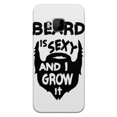 Beard is sexy & I grow it quote design    HTC one M9 hard plastic printed back cover