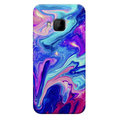 Colours spill design    HTC one M9 hard plastic printed back cover