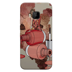 Fallen Nail paint Design HTC one M9 hard plastic printed back cover