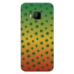 Multicolour leaf overall design HTC one M9 hard plastic printed back cover
