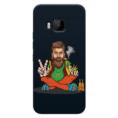 Man smoking joint pattern HTC one M9 hard plastic printed back cover