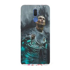 Oil painted ronaldo  design,   Huawei Honor Matte 10 Lite hard plastic all side printed back cover.