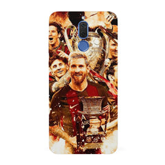 Messi  design,   Huawei Honor Matte 10 Lite hard plastic all side printed back cover.