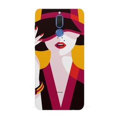 Classy girl  design,   Huawei Honor Matte 10 Lite hard plastic all side printed back cover.