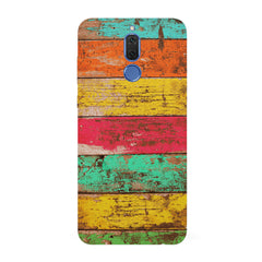 Strips of old painted woods   Huawei Honor Matte 10 Lite hard plastic all side printed back cover.