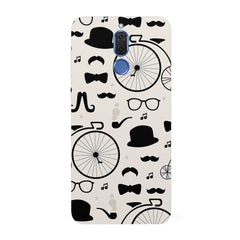Retro theme for classic men  Huawei Honor Matte 10 Lite hard plastic all side printed back cover.