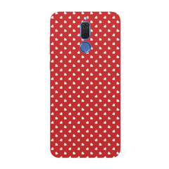 Cute hearts all over the cover design hard plastic printed back cover/case Huawei Honor Matte 10 Lite hard plastic all side printed back cover.
