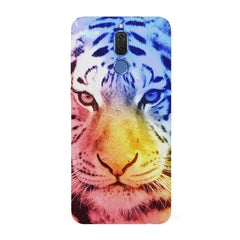 Colourful Tiger Design Huawei Honor Matte 10 Lite hard plastic all side printed back cover.