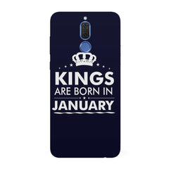 Kings are born in January design all side printed hard back cover by Motivate box Huawei Honor Matte 10 Lite hard plastic all side printed back cover.