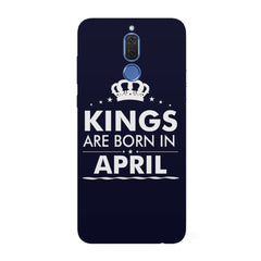 Kings are born in April design all side printed hard back cover by Motivate box Huawei Honor Matte 10 Lite hard plastic all side printed back cover.