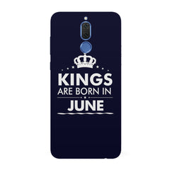 Kings are born in June design all side printed hard back cover by Motivate box Huawei Honor Matte 10 Lite hard plastic all side printed back cover.