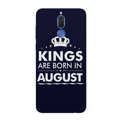 Kings are born in August design all side printed hard back cover by Motivate box Huawei Honor Matte 10 Lite hard plastic all side printed back cover.