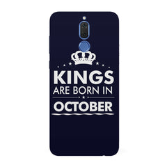 Kings are born in October design all side printed hard back cover by Motivate box Huawei Honor Matte 10 Lite hard plastic all side printed back cover.