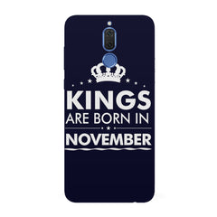 Kings are born in November design all side printed hard back cover by Motivate box Huawei Honor Matte 10 Lite hard plastic all side printed back cover.